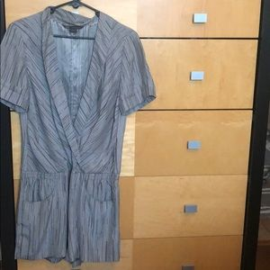 Armani Exchange S silk romper grey jumpsuit short